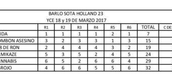 Resultados Regata Barlo Sota  Holland 23