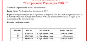 Campeonato Primavera PHRF 2019